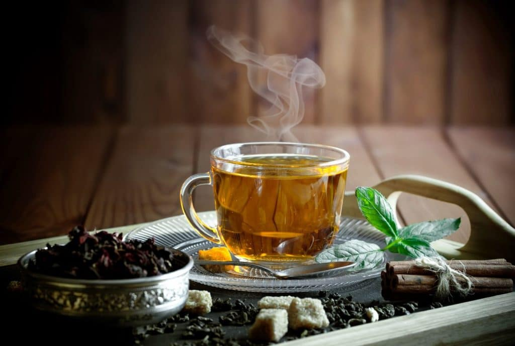 Benefits of Green/Black/Ginger/Hibiscus Tea in Cancer